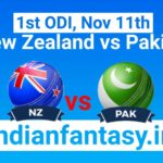 NZ vs PAK Dream11 prediction 1st ODI