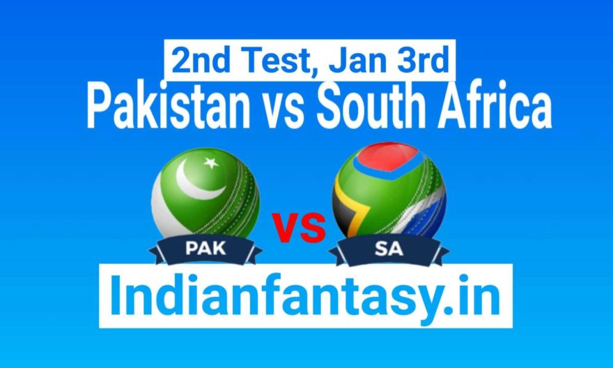 PAK vs RSA Dream11 Prediction & Probable11 2nd Test